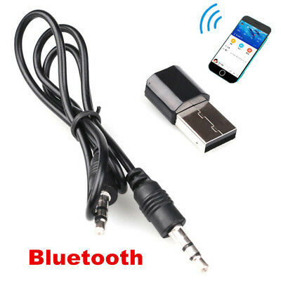 USB Wireless Bluetooth 3.5 mm AUX Audio Stereo Music Receiver Adapter Home Car G