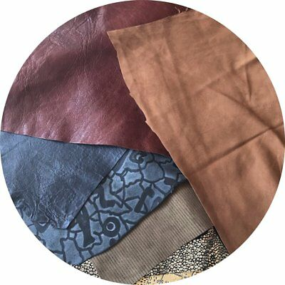 Mixed Leather Nappa Pack -  Jewellery Making, Craft - FREE SHIPPING