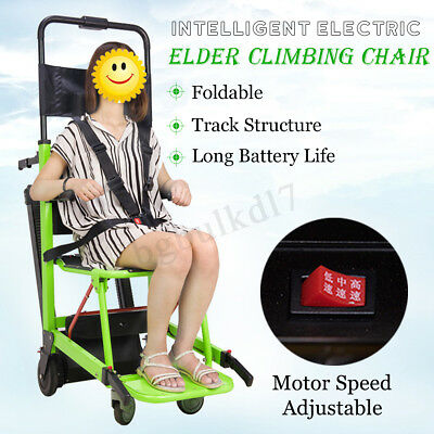 Wheelchair Motorized Climbing Lifting Chair Foldable Elevator Adjustable Speed ☆