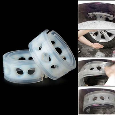 2Pcs White Car Rubber Shock Absorber Spring Bumper Buffer Power Cushion Type D >