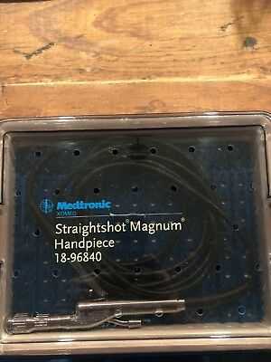 Medtronic Xomed Straightshot Magnum Handpiece blue power w/ case 18-96840
