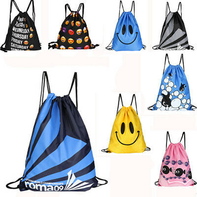 Double Layer Swimming Drawstring Beach Bag Sport Gym Travel Waterproof Backpack