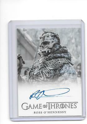 Game of Thrones Season 5 Ross O'Hennessy as Lord of Bones Full Bleed Auto
