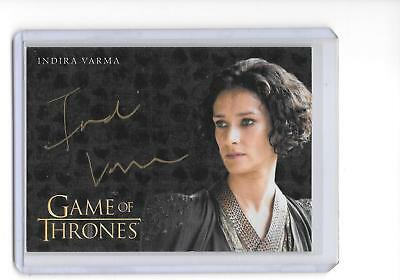 Game of Thrones Valyrian Steel Indira Varma as Ellaria Sand Gold Auto Autograph