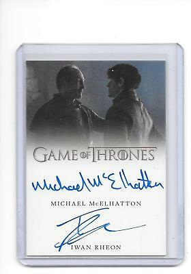 Game of Thrones Valyrian Steel Michael McElhatton Iwan Rheon Ramsay Dual Auto