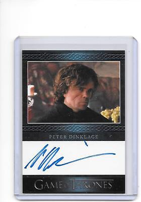 Game of Thrones Season 3 Peter Dinklage as Tyrion Lannister Blue Auto Autograph
