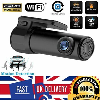 1080p WIFI Hidden FHD Cam Wide Angle Night Vision Car DVR Dash Camera Parking UK