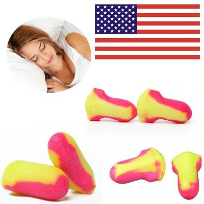 New Laser Lite Soft Foam Ear Plugs 35db Snoring Sleep Aid 10-200 Pairs US Stock