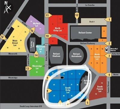 Mar 4 Blue Parking ONLY, Old Dominion @ Rodeo Houston; NRG Stadium