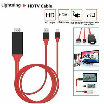 1080P Lightning To HDMI Digital AV TV Cable Adapter For iPhone Xs XR X 8 7 iPad