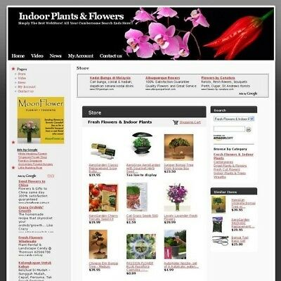 Indoor Online Plants & Flowers Store Business Website For Sale! Work at Home Now