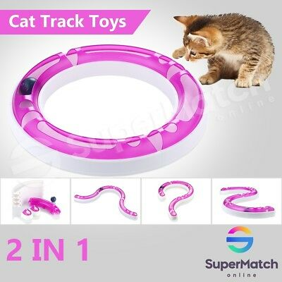 Interactive Cat Track and Ball Toys Pet Track Ball Kitten Training Senses Play