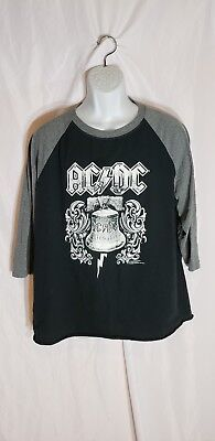 AC//DC Licensed bleached distressed t shirt S-XL Hells bells