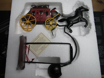 Wells Fargo Stagecoach Metal Balance Toy With Box! 2014! Brand New! Look! Rare!