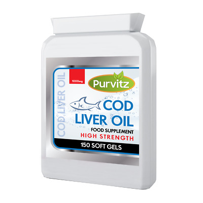 Cod Liver Oil 1000mg capsules 150 For Heart And Joints Brain High Strength UK