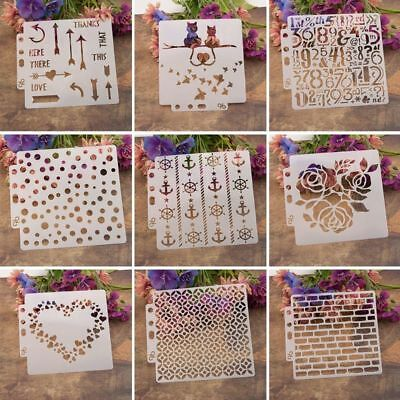 Layering Stencils Template For 2018 Walls Painting Scrapbooking Stamping Craft