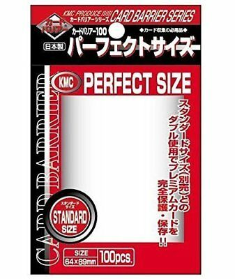 KMC Perfect Barrier Card Sleeves (100 Piece), Clear, 64 x 89mm