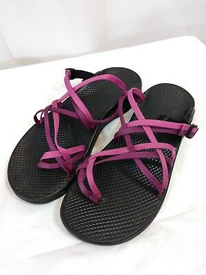 021bd85784cc Womens CHACO Unique Backless Strappy Sandals Pink Purple Size 9 Superb