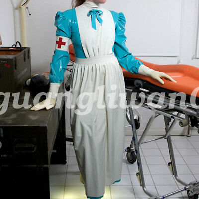 New 100%  Handsome Latex Rubber Women Elegant Dress Long Skirt Size S-XXL