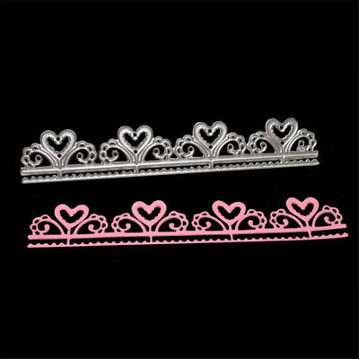 heart borderline lace metal cutting dies stencil scrapbook album embossing new.