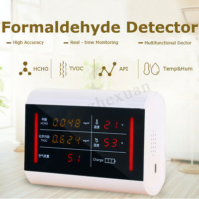 Formaldehyde Detector HCHO TVOC API Air Quality Pollution Monitor Meter Tester