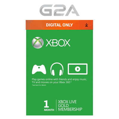 1 Month Xbox Live Gold Membership Code - Microsoft Xbox 360/XONE Digital Key UK