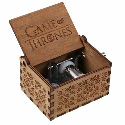 GAME OF THRONES Theme Music Box Engraved Wooden Music Box Crafts Kids Xmas Gifts