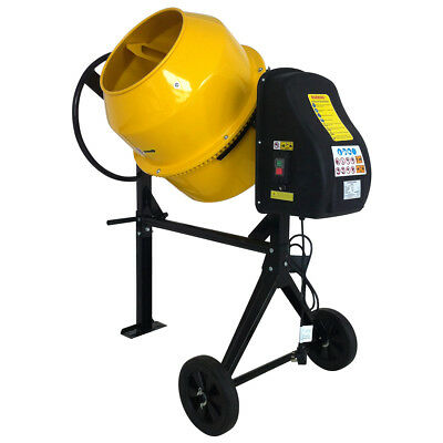 Electric 140L 230V 550W Portable Cement Mortar Concrete Mixer With Stand Wheels