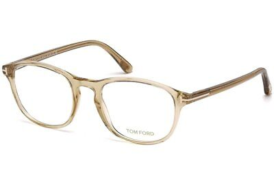 cd94f0e3762e5 Tom Ford Rx Eyeglasses With Case - FT5427 057 - Shiny Beige Crystal (52-
