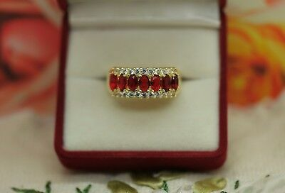 Antique Jewellery Gold Ring Ruby White Sapphires Vintage Dress Jewelry