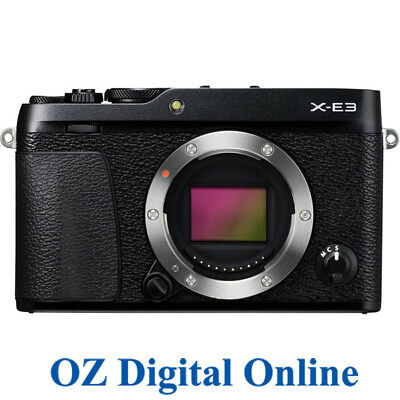 NEW Fujifilm X-E3 Body Black Mirrorless 24.3MP 4K Wifi Camera 1 Yr Au Wty