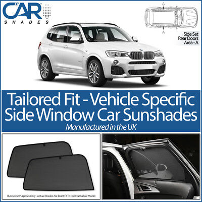 BMW X3 5dr 2010-17 CAR SHADES UK TAILORED UV SIDE WINDOW SUN BLINDS PRIVACY BABY