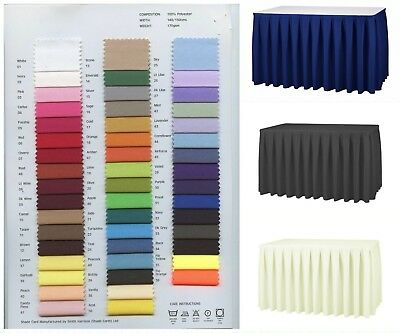 Table Skirting / Buffet Table Skirt Polyester Fabric machine washable 48 Colours