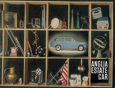 Ford Anglia 105E Estate 1963-64 UK Market Sales Brochure Standard De Luxe