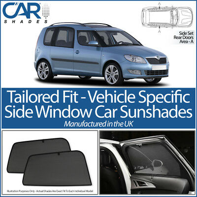 Skoda Roomster 5dr 2006-15 CAR SHADES UK TAILORED UV SIDE WINDOW SUN BLINDS BABY