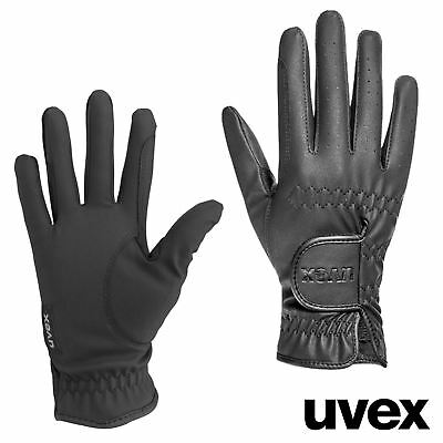 Uvex SPORTSTYLE KIDS PU Leather Horse Riding GLOVES Black 4-6.5