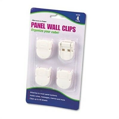 Panel Wall Clips for Fabric Panels, Standard Size, White, 4/Pack