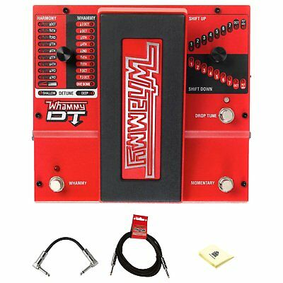 DigiTech Whammydtv-01 DT Drop Tune Guitar Effects Pedal Bundle