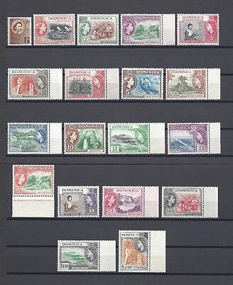 DOMINICA 1954-62 SG 140/58 MNH Cat £85