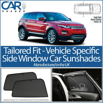Range Rover Evoque 5dr 11> CAR SHADES UK TAILORED UV SIDE WINDOW SUN BLIND BABY