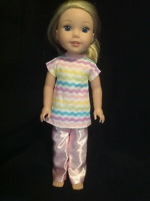 Fits Wellie Wishers American Girl Spring Easter Dress 14 doll clothes outfit