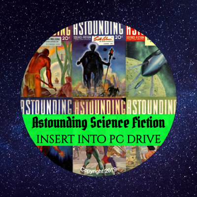 Astounding Science Fiction & Astounding Stories - 171 Digital PDF Magazines DVD