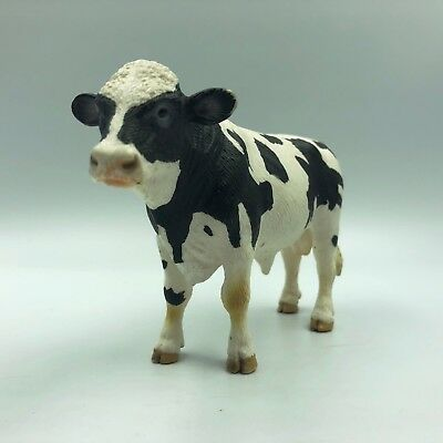 Vintage Rare COW D-73527 Holstein Bull Dairy Breed Model Toy Cow Ox Figure