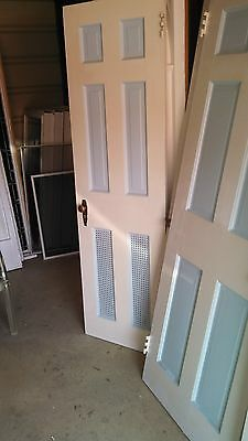 Antique Vintage 6 Panel Interior Door Approx 24 X 80 We Ship!!!!!!!!!
