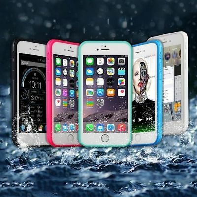 UK 360°Waterproof Dustproof Rubber Phone Case Cover For iPhone 6 6s 7 8 Plus5 5s