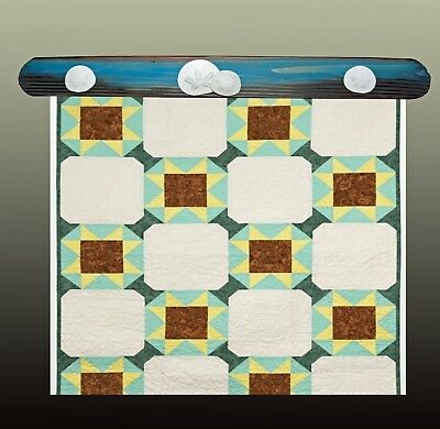 """Quilt Hangers,""""Sand Dollar Beach"""",Will hold 27.5"""" inch Quilt,Rug.One of a Kind"""