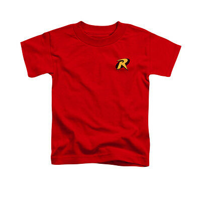 BATMAN ROBIN LOGO Graphic Tee Shirt Licensed Boys Kids 2T 3T 4T 4 5-6 7