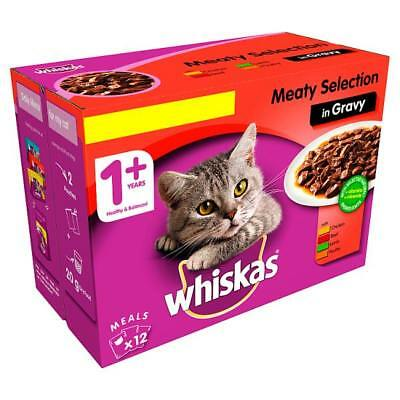 Whiskas Meat in Gravy Wet Adult 1+ Cat Food Pouches 12 x 100g