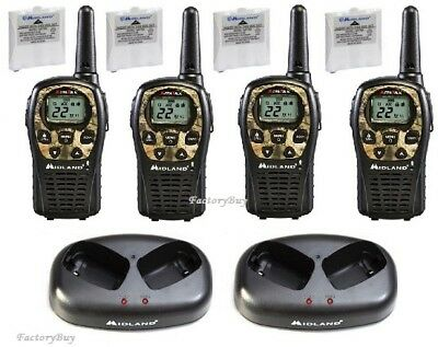 Midland Walkie Talkie >> Midland Walkie Talkie Two Way Radio 4 Pack Camo 24 Mile Hunting Lxt535vp3