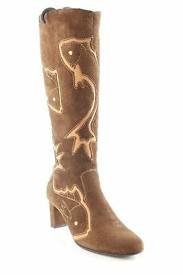 efe97d67a48d JETTE JOOP Boots western motif animal style campagnard Dames T 38 brun cuir